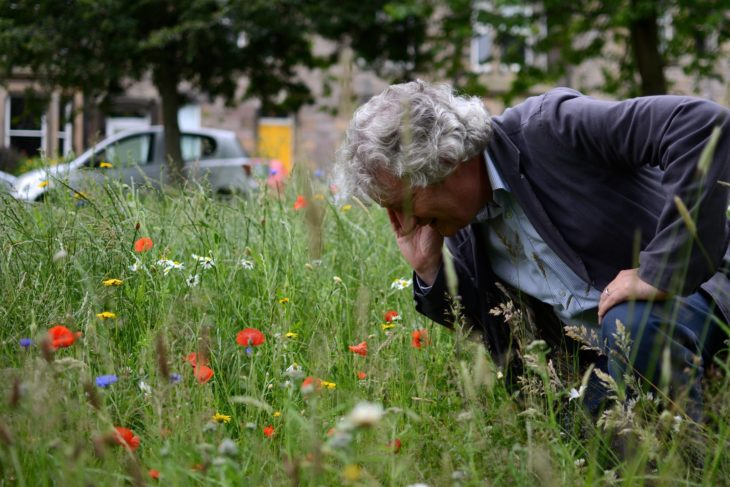 Dr Tim Duffy helped create the first meadow in the meadows in a century © Humans of Edinburgh